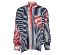 Mix Stripe Asymmetric Squiggle Shirt