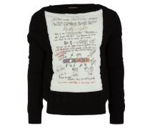 Garter Sweater Black/White Mix