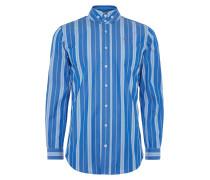 Two Button Krall Shirt Blue Stripes