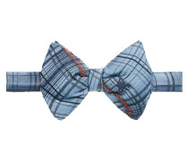 Blue Check Bow Tie One
