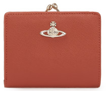 Opio Saffiano Orange Leather Wallet
