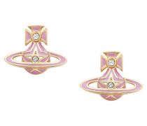 Pink Brianna Bas Relief Earrings