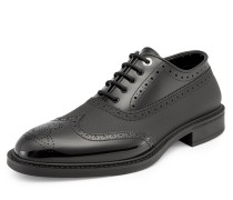 Brogue Lace Up Oxford Shoes Black