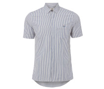 Short Sleeved Shirt Hickory Stripe White/Blue - 44