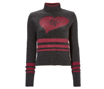 W.W. Sweater in Charcoal/Black /Red