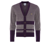Raw Cardigan Purple and Off White