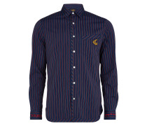 Anglomania Classic Shirt Burgundy Stripes
