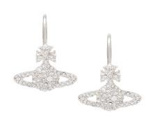 Grace Bas Relief Earrings Crystal