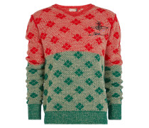 Diamonds Jumper Red/Green/Natural Mix