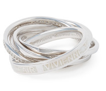Sterling Silver Dustin Ring White CZ/ Enamel