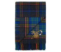 Johnstons of Elgin Blue Tartan Throw