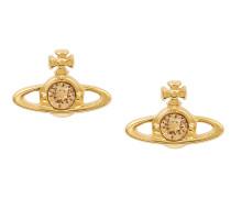 Nano Solitaire Earrings Gold/Light Topaz