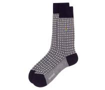 Textured Socks Navy/Cream