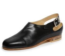 Black Pirate Slingback Shoes