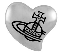 Caetano Heart Single Stud Silver
