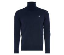 Fine Turtleneck Jumper in Navy