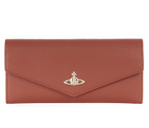 Opio Saffiano Wallet 321527 Orange
