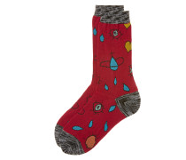 Red Heart and Eye Socks One