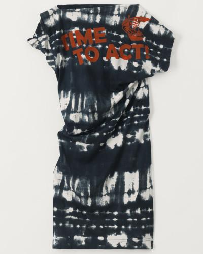 Hebo Dress Time To Act Black Tie-Dye