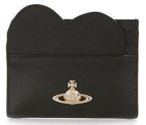 Opio Saffiano Heart Card Holder 321528 Black