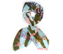 Save The Rainforest Scarf Turquoise