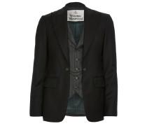 Waistcoat Jacket Morning Stripe Black