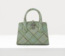 Sofia Small Handbag Green Tartan
