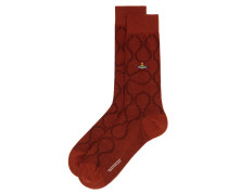 Squiggle Socks Russet