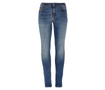 Anglomania Super Skinny Jeans Distressed Blue Denim
