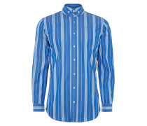 Two Button Krall Shirt Blue Stripes
