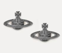 Mini Bas Relief Earrings Gunmetal-Tone