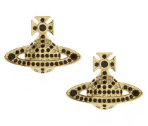 Jack Bas Relief Earring Gold Plated