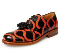 Vivienne Westwood Women's Grenson Black Red Squiggle Derby Shoes