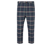 Cropped James Bond Trousers Navy Check