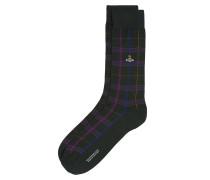 Check Socks Dark Green