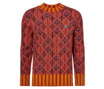 Vivienne Westwood Red Diamonds Chunky Crewneck Size S