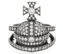 Sterling Silver Orb Ring Gunmetal
