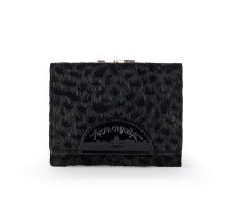 Anglomania Cheetah Wallet With Coin Pocket- Black