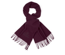 Classic Embroidered Scarf Wine