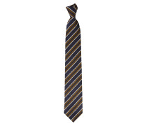 Striped Jacquard Tie Blue/Orange