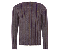 Square Sweater Purple Stripes