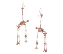 Anglomania Skeleton Earrings in Rose Gold