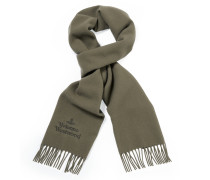 Classic Embroidered Scarf in Taupe