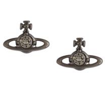 Nano Solitaire Earrings Black
