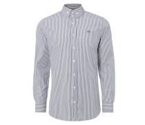 Two Button Krall Shirt Hickory Stripe White/Blue -44