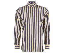 Firm Krall Shirt Blue/Yellow Stripes