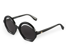 Crescent-Cut Sunglasses Black VW956S1BLG One