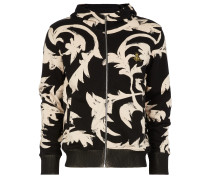 Turtle Hoodie Black Print Leaves