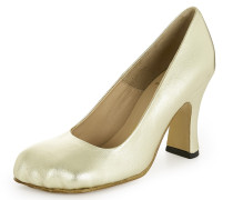 Animal Toe Court Shoes Gold
