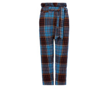 Anglomania New Kung Fu Trousers Light in Blue/Orange/Black